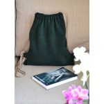 Рюкзак мішок з натурального замша bp_13_green
