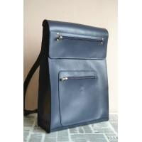 Рюкзак bp_8_blue зі шкіри преміум класу