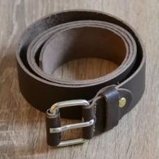 Ремінь шкіряний 20 мм коричневий be_001_brown_3606