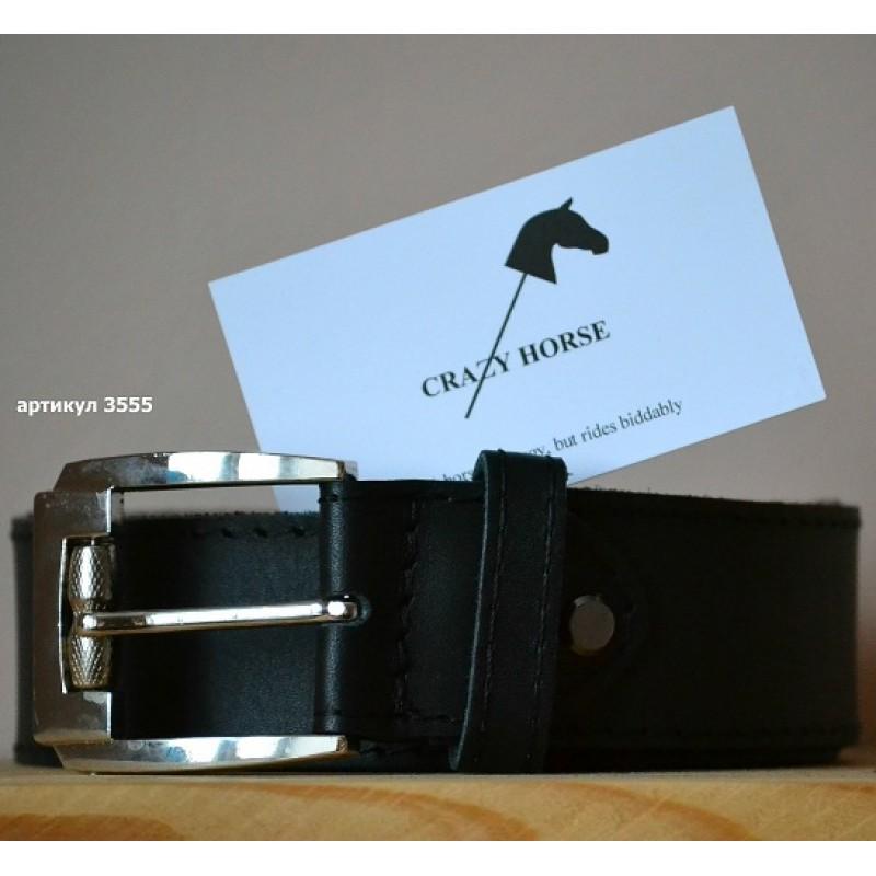 Ремінь для джинсів прошитий be 012 black 3555 graphite 8277255523df4