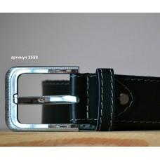 Ремінь для джинсів прошитий be_014_black_3559_quartz