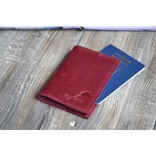 Обкладинка для паспорта co_001_burgundy