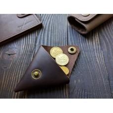 Монетниця з натуральної шкіри cop_001_brown