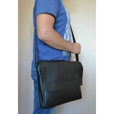 Чоловіча сумка messenger з натуральної шкіри mb_003_black_plate