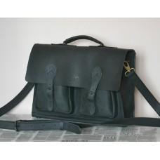Чоловічий портфель з натуральної шкіри Crazy horse mb_010_black