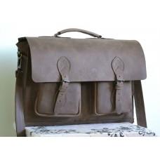 Чоловічий портфель з натуральної шкіри Crazy horse mb_010_brown