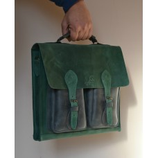 Чоловічий портфель з натуральної шкіри  mb_015_green_black