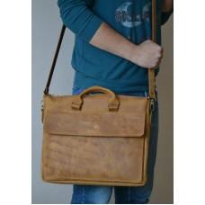 Чоловіча шкіряна сумка mb_016_whiskey