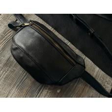 Поясна сумка з натуральної шкіри mb_024_black_fl