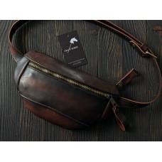 Поясна сумка з натуральної шкіри mb_024_cognac