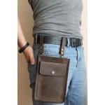 Чоловіча поясна сумка через плече  з натуральної шкіри mb_030_brown