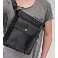 Чоловіча сумка з натуральної шкіри mb_031_black
