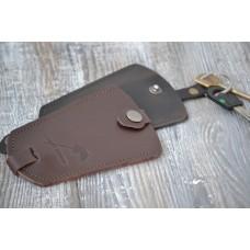 Ключниця з натуральної шкіри kc_001_brown