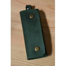 Ключниця з натуральної шкіри kc_002_green