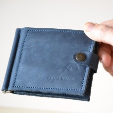 Затискач для купюр з монетницею mc_001_blue