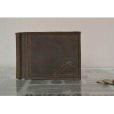 Затискач для купюр з монетницею mc_001_brown