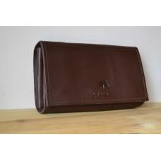 Жіночий клатч-гаманець з преміум шкіри pu_001_1brown