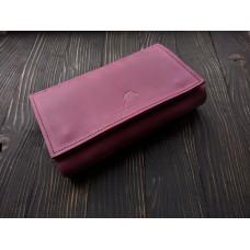 Жіночий клатч-гаманець pu_001_burgundy