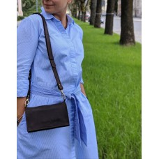 Жіночий клатч-гаманець з ремнем через плече pu_002_brown