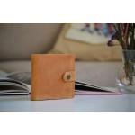 Шкіряне портмоне з монетницею та застібкою wa_006_camel