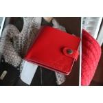 Шкіряне портмоне з монетницею та застібкою wa_006_red_orion