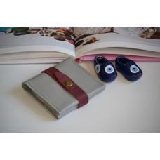 Жіночий гаманець на застібці wa_008_grey_bordo
