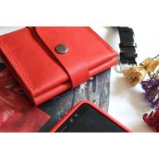 Жіночий гаманець на застібці wa_008_red