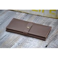 Жіночий гаманець з монетницею wa_010_brown