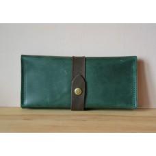 Жіночий гаманець з монетницею wa_010_green_brown