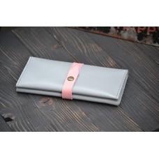 Жіночий гаманець з монетницею wa_010_grey_pink