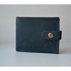 Шкіряне портмоне з двома відділеннями для купюр wa_015_blue