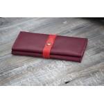 Жіночий гаманець з з двома відділеннями для купюр wa_021_bordo_red
