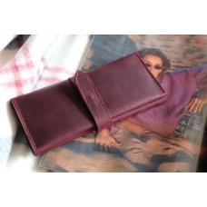 Жіночий гаманець з монетницею wa_027_bordo за натуральної шкіри крейзі хорс
