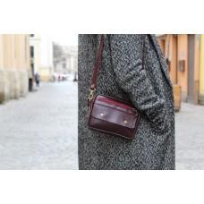Поясна-крос сумка з натуральної шкіри mb_027_burgundy