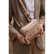 Поясна-крос сумка з натуральної шкіри mb_027_cappuccino