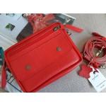 Поясна-крос сумка з натуральної шкіри mb_027_red_flotar