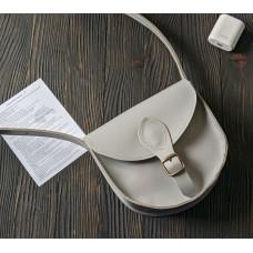 Жіноча сумка сідло з натуральної шкіри крейзі хорс з магнітом wb_002_grey