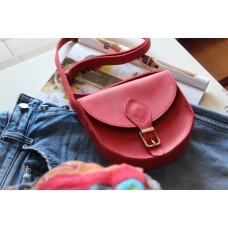 Жіноча сумка сідло з натуральної шкіри крейзі хорс із магнітом wb_002_red