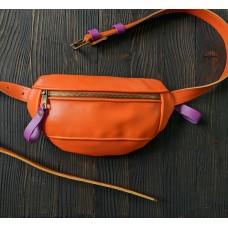 Поясна сумка з натуральної шкіри wb_051_Orange