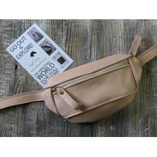 Поясна сумка з натуральної шкіри wb_051_cappuccino