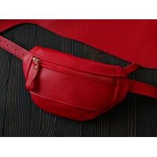 Поясна сумка з натуральної шкіри wb_051_red