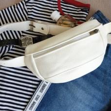 Поясна сумка з натуральної шкіри wb_051_white