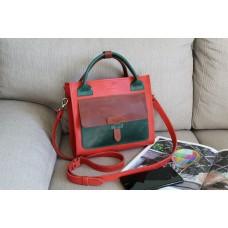 Жіноча сумка wb_055_red_green_terra зі шкіри крейзі хорс