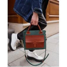 Жіноча сумка wb_055_green_terra зі шкіри крейзі хорс