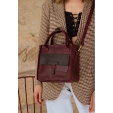 Жіноча сумка wb_056_bordo_brown