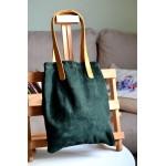 Жіноча сумка-пакет wb_058_green_camel