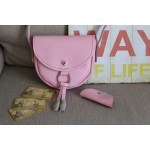 Жіноча сумка на кнопочці  wb_064_pink