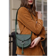 Жіноча сумка wb_071_green на магніті з блискавкою під клапаном