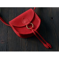 Жіноча сумка wb_071_red на магніті з блискавкою під клапаном